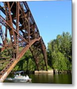 Smooth Ride Under The Arch Metal Print