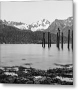 Smooth Seward Alaska Grayscale Metal Print