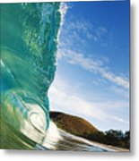 Smooth Wave - Makena Metal Print