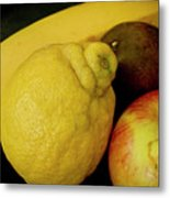 Smoothie Collection With Apple Note. Metal Print