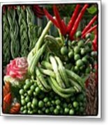 Snake Beans. At The Surin Elephant Metal Print
