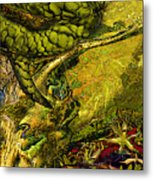 Snake In The Jungle Metal Print
