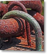 Snaking Rust  Metal Print