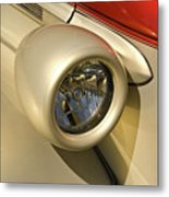 Snazzy Headlamp On Antique Car Metal Print by Douglas Barnett