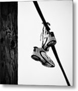 Sneakers On Power Line Metal Print