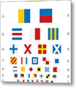 Snellen Chart - Nautical Flags Metal Print