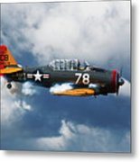 Snj-5  Texan T-6  Smoke On Metal Print