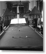 Snooker Room Metal Print