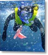 Snorkeling At The Great Barrier Reef Metal Print