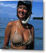 Snorkler Beauty Metal Print