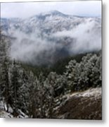 Snow And Clouds In The Mountains Metal Print