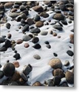 Snow And Stone Metal Print