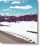 Snow And The Open Road Metal Print