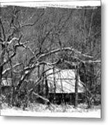 Snow Barn Metal Print