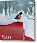 Snow Bird Metal Print