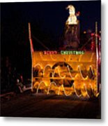 Snow Blower As Float In Shipshewana Light Parade Metal Print
