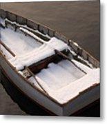 Snow Boat Metal Print