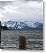 Snow Capped Metal Print