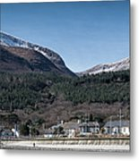 Snow Capped Mourne Mountains Metal Print