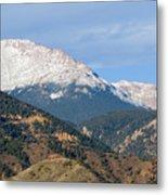 Snow Capped Pikes Peak Colorado Metal Print