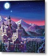 Snow Castle Metal Print by David Lloyd Glover