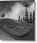 Snow Circle In The Mountains Metal Print