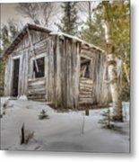 Snow Covered Abandon Cabin Metal Print