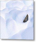 Snow-covered Rocks In Yosemite Metal Print