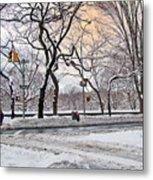 Snow Day On 5th Avenue Metal Print