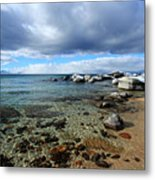 Snow Day On Her Shore Metal Print