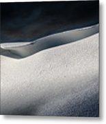 Snow Drift On The Beach Metal Print