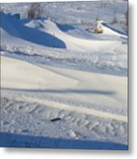 Snow Drift Metal Print