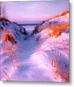 Snow Dune Metal Print