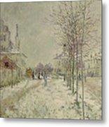 Snow Effect Metal Print by Claude Monet