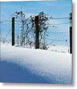 Snow Fence Metal Print by Joyce Kimble Smith