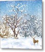 Snow Flurry Metal Print by Arline Wagner