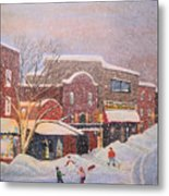 Snow For The Holidays Painting Metal Print