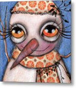 Snow Girl Metal Print by  Abril Andrade Griffith