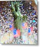 Snow Globe Liberty Metal Print
