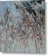 Snow Grass Happiness Metal Print