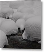 Snow Hats Metal Print