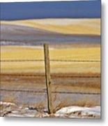 Snow Hills Saskatchewan Metal Print