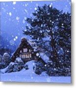 Snow, Historic Villages Of Shirakawa, Japan Metal Print