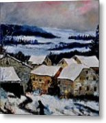 Snow In Ardennes 79 Metal Print