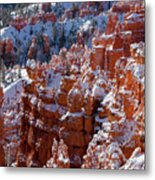 Snow In Bryce Canyon Metal Print