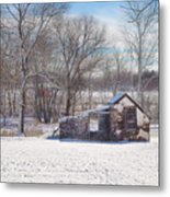 Snow In Plymouth Meeting Metal Print