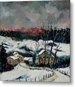 Snow In Sechery Redu Metal Print