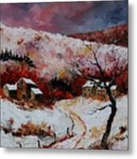 Snow In The Ardennes 78 Metal Print by Pol Ledent