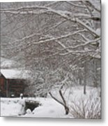 Snow In The Country. Metal Print