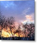 Snow In The Distance Metal Print